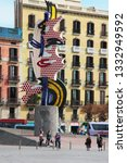 barcelona  spain   april 19 ...   Shutterstock . vector #1332949592