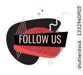 black red modern liquid fluid... | Shutterstock .eps vector #1332960905