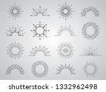 vintage hand drawn sunburst... | Shutterstock .eps vector #1332962498