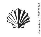 shell vector icon. simple flat... | Shutterstock .eps vector #1332982265