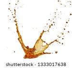 Fresh coke soda splash creating creative shape for advertising compositing use.
