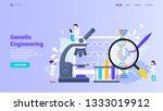 genetic engineering  gene... | Shutterstock .eps vector #1333019912