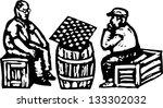 black and white vector... | Shutterstock .eps vector #133302032
