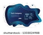 technology company abstract... | Shutterstock .eps vector #1333024988
