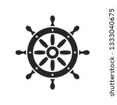 ship steering wheel vector icon | Shutterstock .eps vector #1333040675
