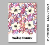 jasmine anemone floral wedding...   Shutterstock .eps vector #1333044005