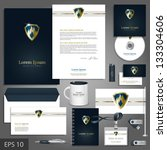 luxurious corporate identity... | Shutterstock .eps vector #133304606
