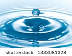drop of water on white... | Shutterstock . vector #1333081328