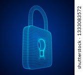 padlock cyber security concept. ... | Shutterstock . vector #1333083572