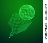 microphone . wireframe low poly ... | Shutterstock . vector #1333083845