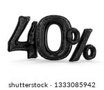 black forty percent made of... | Shutterstock . vector #1333085942
