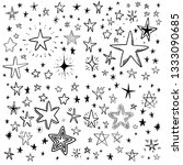 star doodles  hand drawn stars... | Shutterstock .eps vector #1333090685