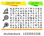 discovery icon set. 120 filled... | Shutterstock .eps vector #1333092338