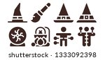 witchcraft icon set. 8 filled... | Shutterstock .eps vector #1333092398