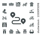 track icon set. 17 filled track ... | Shutterstock .eps vector #1333095098