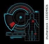 health scanner interface | Shutterstock .eps vector #133309826