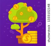 monetary tree. concept income... | Shutterstock .eps vector #1333102148