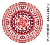 beautiful indian ornament ...   Shutterstock .eps vector #1333118348
