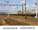 freight train with tank wagons  ... | Shutterstock . vector #1333120475
