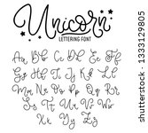 unicorn hand drawn font design. ... | Shutterstock .eps vector #1333129805