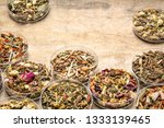 collection of  herbal blend... | Shutterstock . vector #1333139465