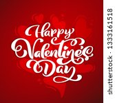 happy valentines day typography ... | Shutterstock . vector #1333161518