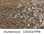 crowd of small symbolic 3d... | Shutterstock . vector #1333167998