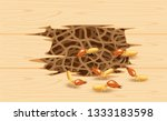 illustration termite nest at... | Shutterstock .eps vector #1333183598