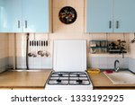 Simple Kitchen Interior With...