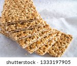 crisp breads with sesame  seeds ... | Shutterstock . vector #1333197905