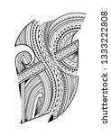 maori design for the side of... | Shutterstock .eps vector #1333222808