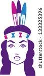 native american girl   Shutterstock .eps vector #133325396