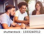 teamwork concept.young creative ... | Shutterstock . vector #1333260512