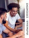 teamwork concept.young creative ... | Shutterstock . vector #1333260545
