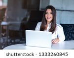 beautiful business lady with... | Shutterstock . vector #1333260845