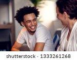 teamwork concept.young creative ... | Shutterstock . vector #1333261268