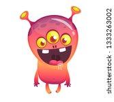 cartoon character funny alien... | Shutterstock .eps vector #1333263002