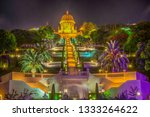 night view of bahai gardens in... | Shutterstock . vector #1333264622