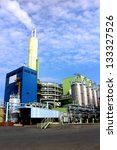 Modern waste and industrial incineration plant in Germany - stock photo