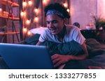 true gamer. nice african... | Shutterstock . vector #1333277855