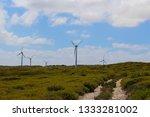 ten mile lagoon wind farm is... | Shutterstock . vector #1333281002