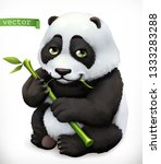 panda bear cartoon character.... | Shutterstock .eps vector #1333283288
