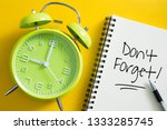 don't forget notice reminder...   Shutterstock . vector #1333285745