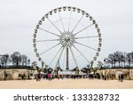 paris   february 3  a ferris... | Shutterstock . vector #133328732
