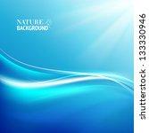 shining blue flow. vector...   Shutterstock .eps vector #133330946