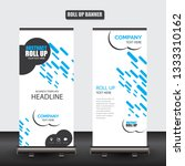 roll up business brochure flyer ... | Shutterstock .eps vector #1333310162