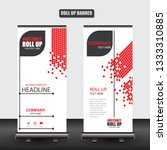 roll up business brochure flyer ... | Shutterstock .eps vector #1333310885
