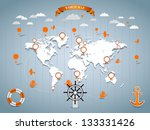 vector world map illustration... | Shutterstock .eps vector #133331426