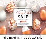 easter sale banner design with...   Shutterstock .eps vector #1333314542