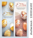 easter vertical banners with...   Shutterstock .eps vector #1333316102